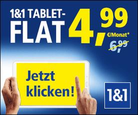 Die 1 & 1 Tablet Flat trotz Schufa ist preiswertes mobiles DSL trotz Schufa.