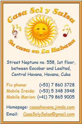 Business Card Casa Sol y Salsa