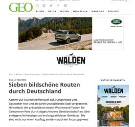 Von Walden (GEO): Sieben tolle Touren durch Deutschland zum Nachfahren.
