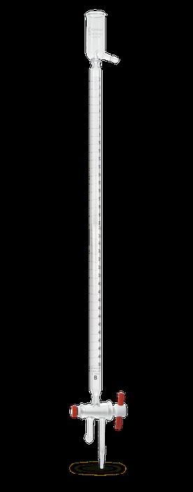 Bureta de cero automática clase A serializada y certificada con llave de PTFE y depósito de llenado 17054F