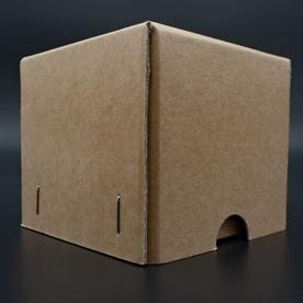 Stülpdeckelkarton - Deckelübergreifend mit Griffloch
