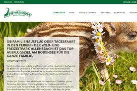 Freizeitpark mit wildlebenden Tieren und Familienaktivitäten