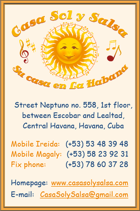 Business card Casa Sol y Salsa