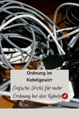 Ordnung im #Kabelgewirr - Einfache Tricks für mehr #Ordnung ohne #Kabelchaos