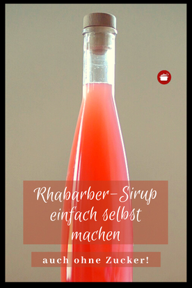 Sirup aus Rhabarber #rhabarber #sirup #thermomixrezept