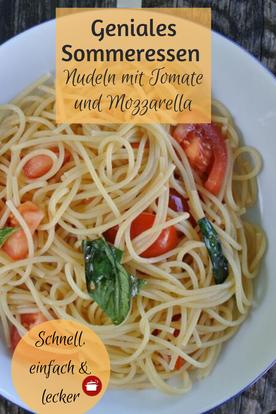 Schnelle Nudeln mit Tomaten  #tomatemozzarella #schnellesessen #pasta #sommer