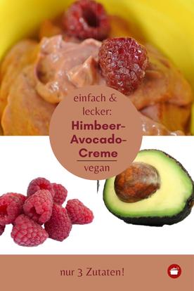 Himbeer-Dessert mit #Avocado #Himbeeren #dessert #thermomixrezept #orgaBine