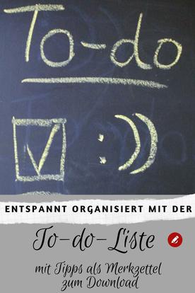 To-do-Liste mit Tipps als Merkzettel #todoliste #planung #organisation #listen