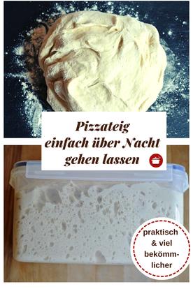 Pizzateig über Nacht gehen lassen #pizzateig #pizzateigübernacht #langegehzeit #thermomixrezepte #orgaBine