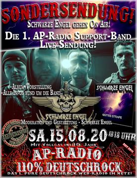 Schwarze Engel bei AP-Radio - 110% Deutschrock