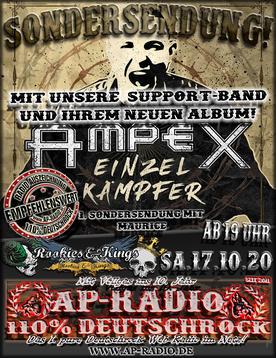 Ampex bei AP-Radio - 110% Deutschrock