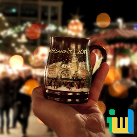 Glühweintasse Weihnachtsmarkt Leipzig 2017