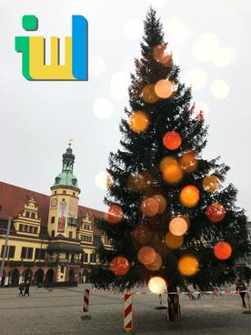 Weihnachtsbaum Leipzig auf dem Leipziger Weihnachtsmarkt 2017