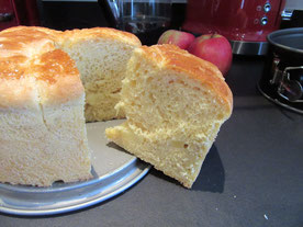 Brioche moelleuse pomme-cannelle