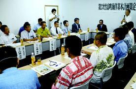 第1回第2次竹富町海洋基本計画策定委員会が開かれた=26日、竹富町役場