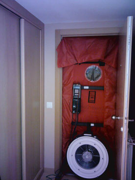 Sistema Blower Door. Ensayo de hermeticidad / Test de Infiltraciones