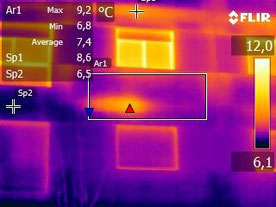 Termografía. Localización Puentes térmicos - OMB Arquitecto Técnico - OMB Termografía