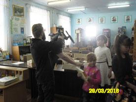 Работает московская съемочная группа (г. Балей)