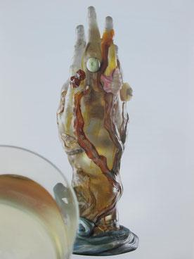 involuté la main aux algues et aux coquillages de émile gallé