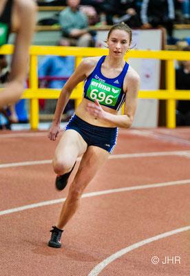 Mit neuer persönlicher Bestzeit von 26,47 Sekunden siegte Marie Steldermann im 200-m-Lauf der U20. (Foto: Jan-Hendrik Ridder)