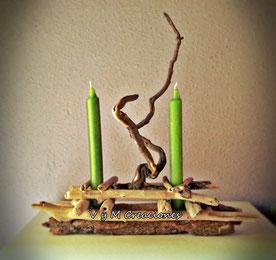 madera de mar, madera deriva, artesania madera, decoración con palos, vymcreaciones.com, vymcreaciones, etsy