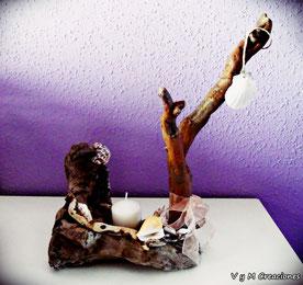 portavelas madera, vymcreaciones.com, vymcreaciones, etsy, artesania asturias, driftwood art