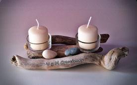 portavelas madera de mar, artesania asturias, etsy, driftwood art, vymcreaciones, vymcreaciones.com, portavelas