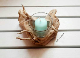 portavelas madera, driftwood candleholder, driftwood, vymcreaciones, vymcreaciones.com, madera de mar, decoración con palos, etsy