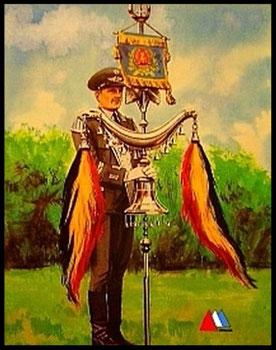 Postkaart 1965 (NVA musiker mit schellenbaum) collectie auteur.
