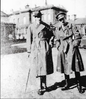 Capt Denis Garstin (right) in Russia