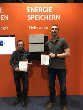 Kai Lippold und Tobias Barth bei Solarwatt in Dresden