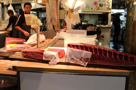 Tsukiji Fischmarkt Tokio, Japan, Thunfisch, Sushi,