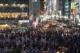 Menschen, Shibuya Crossing, Japan, Tokio, Gewimmel, Menschenmassen