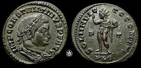 Münze Konstantin d. Gr. als Sol invictus geprägt 310 - c)cngcoins.com