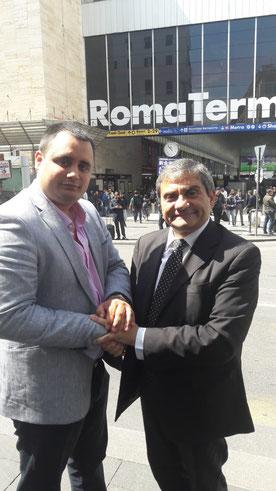 Il Presidente Salsano con il neo Presidente CAD Spagna Rubén Soto