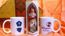 """""""Zum zehnjährigen Jubiläum der Nikolaus-Aktion der KjG gibt es auch Geschenksets mit Nikolaus und Tasse zu bestellen.""""  Foto: Ann-Kathrin Scherbel"""