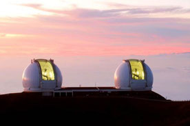 Keck Observatorium auf dem  Vulkan Mauna Kea auf der Insel Hawaii. Foto: CC BY 3.0