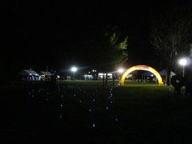 夜のみのわ天竜公園がライブ会場に。