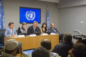 Conferencia de prensa Premio Equator 2015. Foto: Rick Bajornas (ONU)