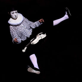 Ravienne Art Model - Foto, Pierrot, Clown, Geige