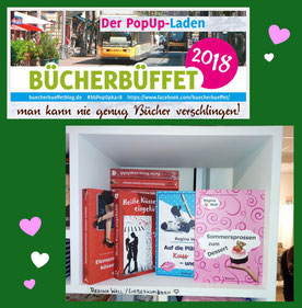 Pop-up-Laden Bücherbüffet Karlsruhe, Regina Wall, Liebesromane