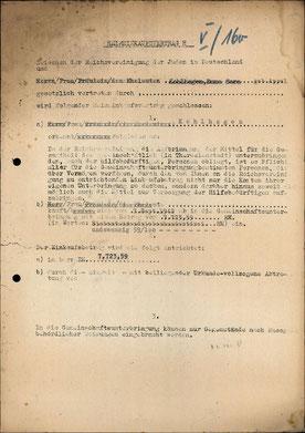 Heimeinkaufsvertrag H von Emma Kohlhagen (BA - Sammlung Christian Lehmann)
