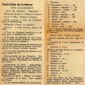 Le prix Balaresque au YC Marne 30 avril/1er mai 1950