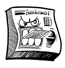 Bankomat-Zeichnung