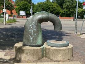 Eine von mehrere Skulpturen in Kattenturm-Mitte, Bremen Obervieland - Kunst im öffentlichen Raum (Foto: 05-2020, Jens Schmidt)