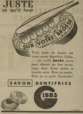 Publicité dans l'Echo de Nancy du 14 nov 1941