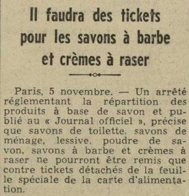L'Echos de Nancy du 6 novembre 1940
