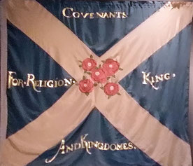 Flagge der Covenanters, National Museum of Scotland