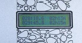 Affichage en temps réel : point 029 à 45.3 mm/h à 2h15