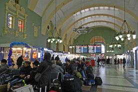 Wartehalle Kasaner Bahnhof in Moskau